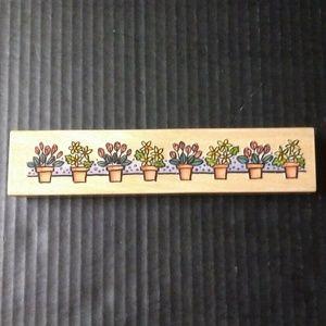 Sugarloaf Rubber Stamp Whispers Border Flower Pots